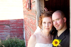 On our wedding day, September 12, 2009. It was a gorgeous sunny day, just like today.