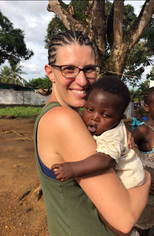 Because she is a doula, Lindsay ended up providing a great deal of breastfeeding education during a recent mission to Liberia.